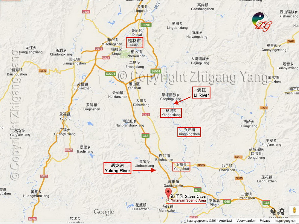 Guilin Scenic Area Map