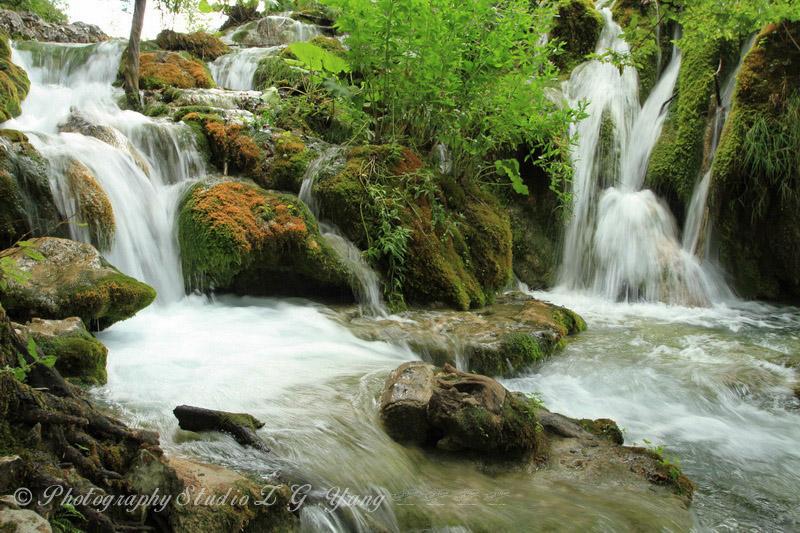 Waterfall in Lake Plitvice