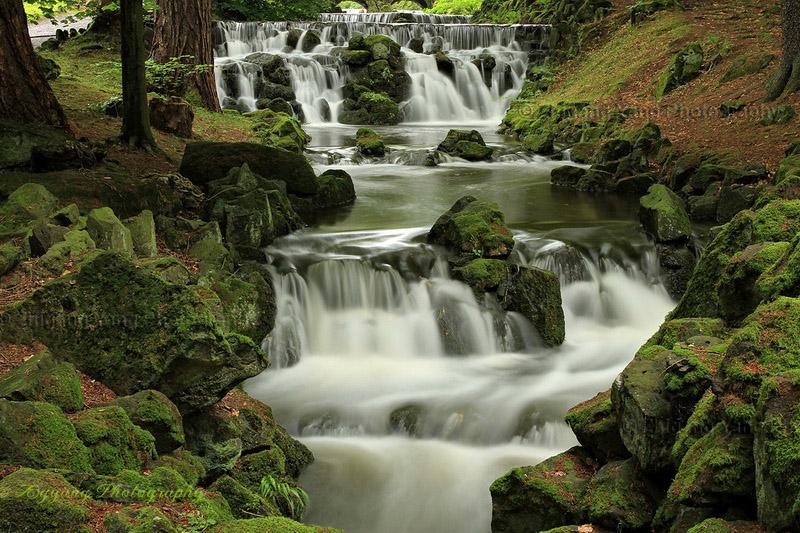 Waterfall in Park Wilhelmshohe