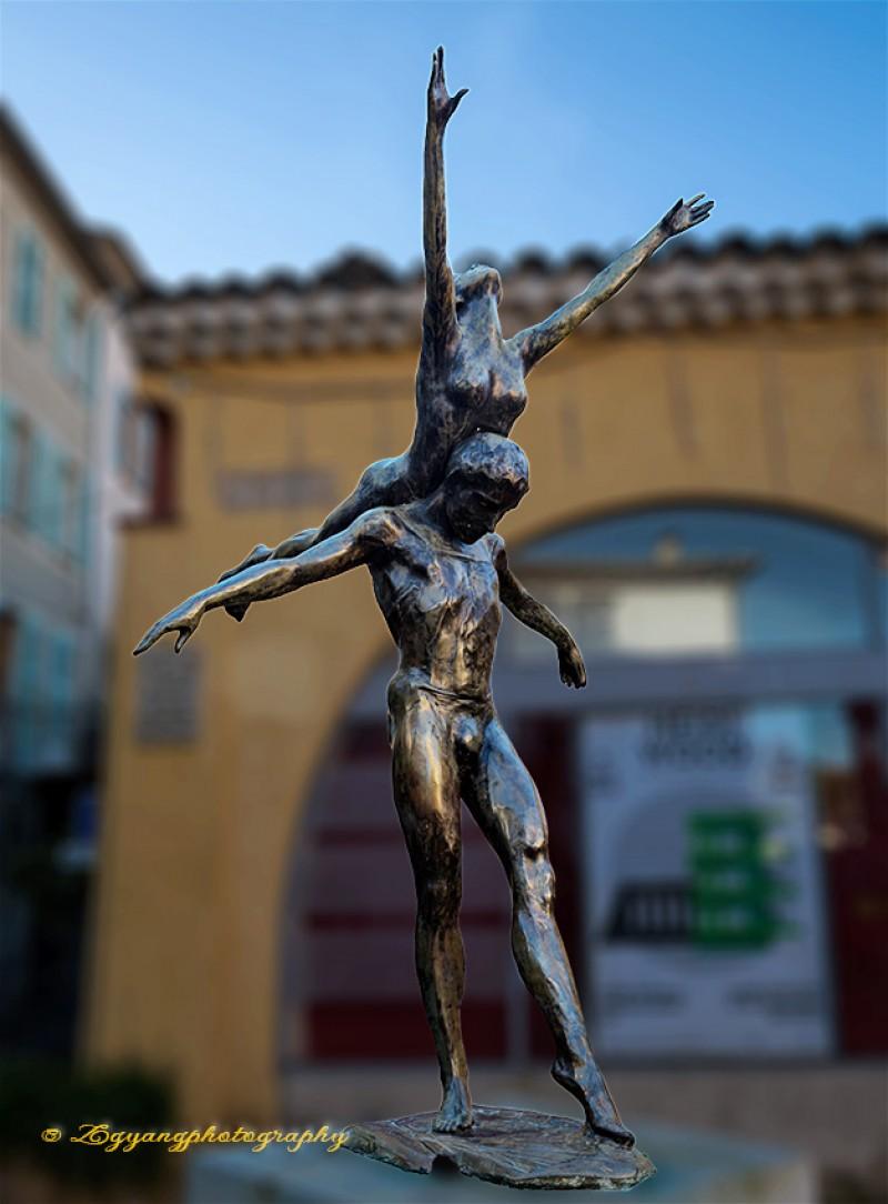 Art statue at St. Paul de Vence