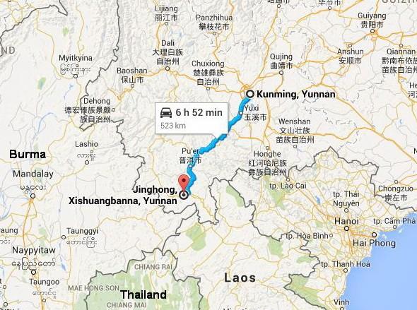Autoroute Kunming to Xishuangbanna G213