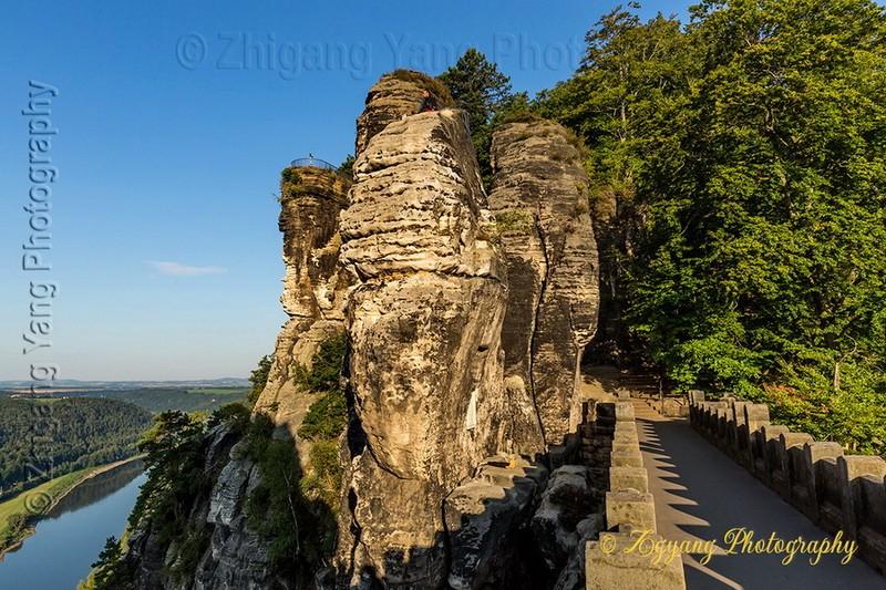 Bastei rock formation and Elbe river 4