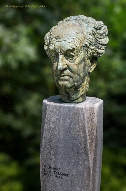 German dramatist and novelist, Nobel Prize in Literature 1912