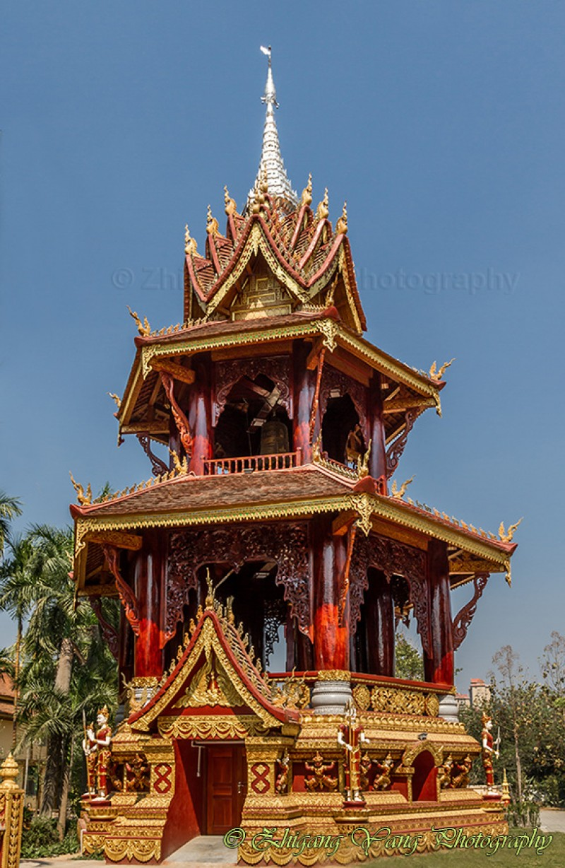 Buddhist pagoda with Theravada-style in Manting Park