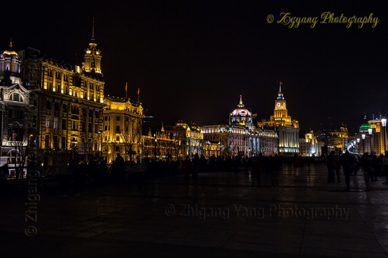 The Bund Boulevard by night