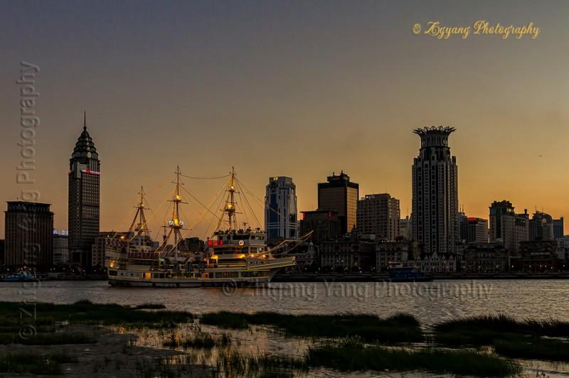 Sunset at The Bund Shanghai