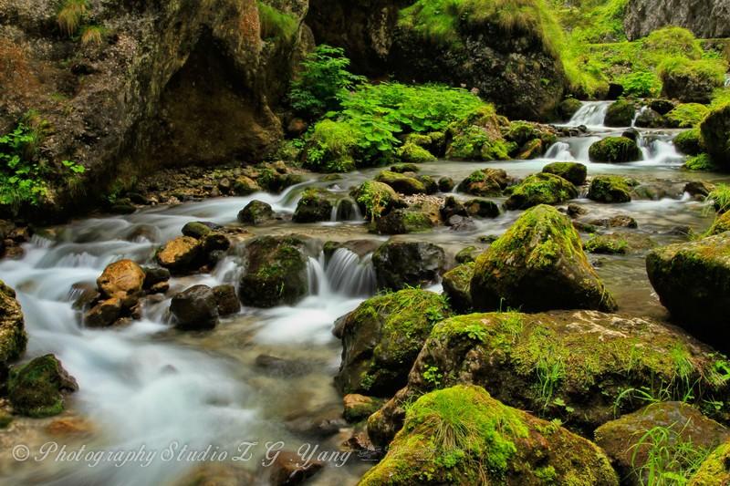 Waterfall in Serrai di Sottoguda, Italy