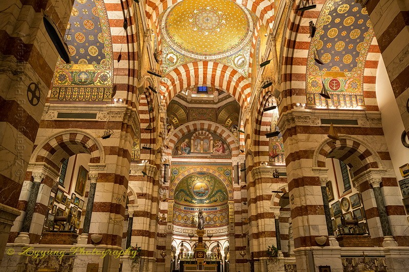 Basilica Notre-Dame of the Garde in Marseille