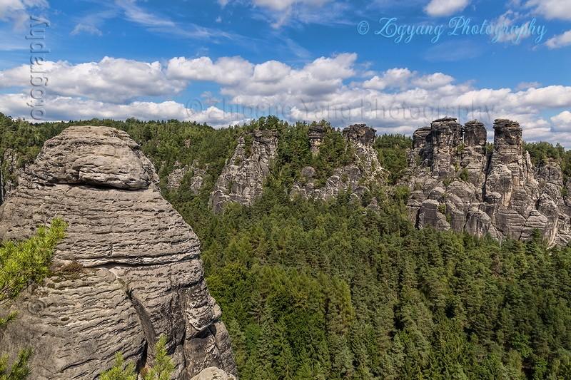 Bastei rock formation 4