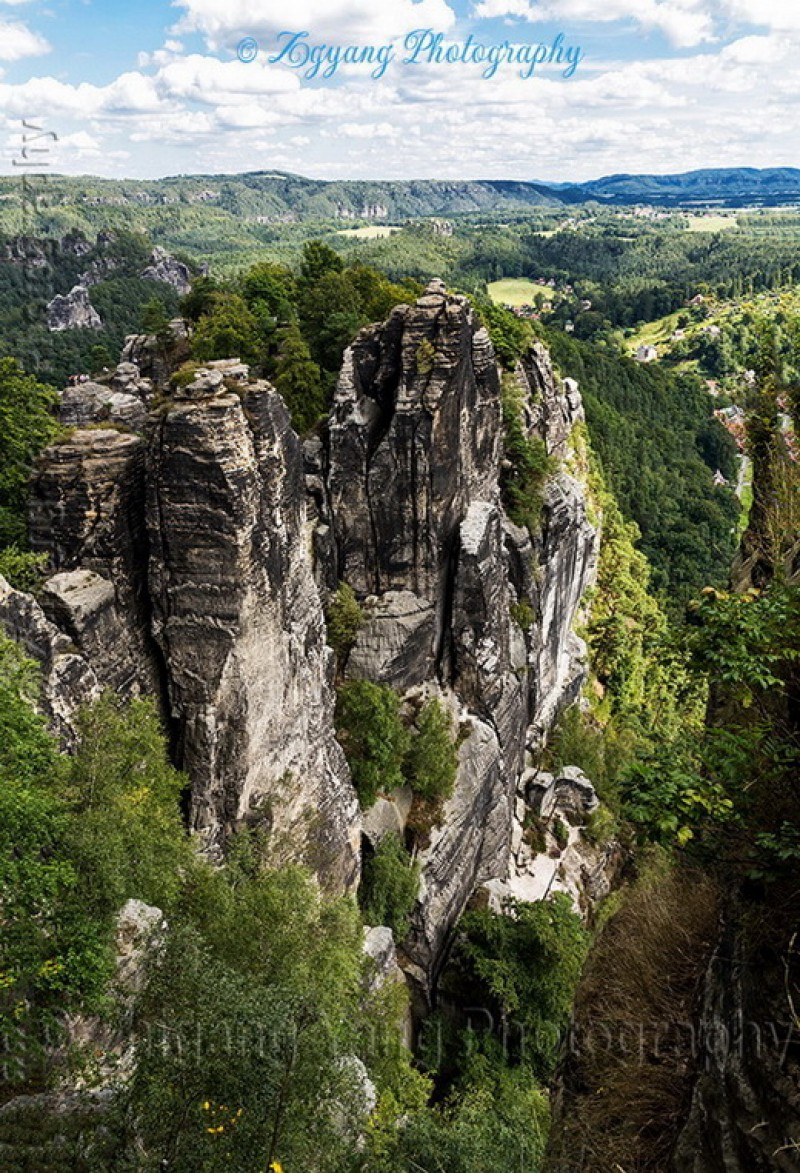 Rock formation in Saxon Switzerland National Park