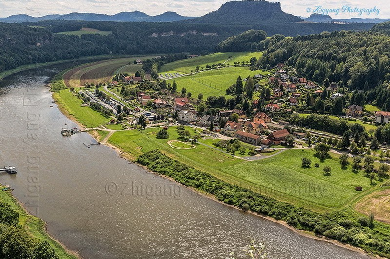 Saxon Switzerland National Park and Elbe river