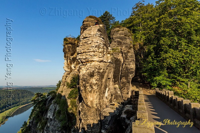 Bastei rock formation and Elbe river 4