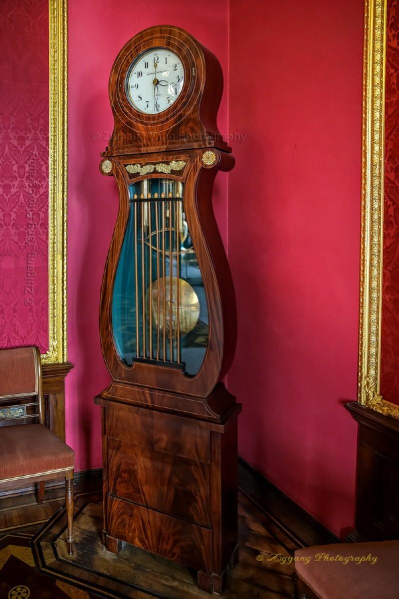 Classic standing clock In Castle Schwerin