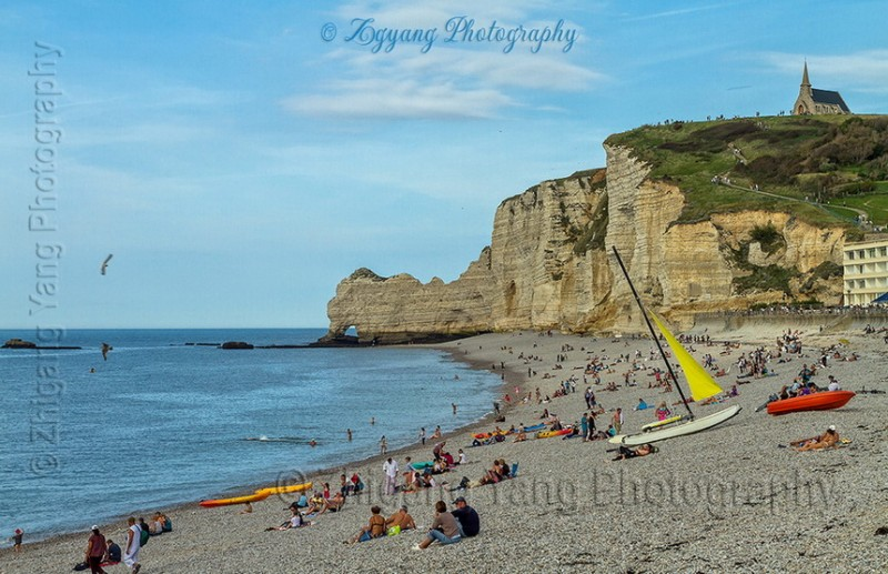 Etretat beach activities 1