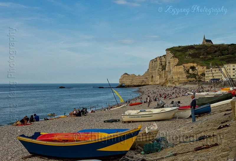 Etretat beach activities