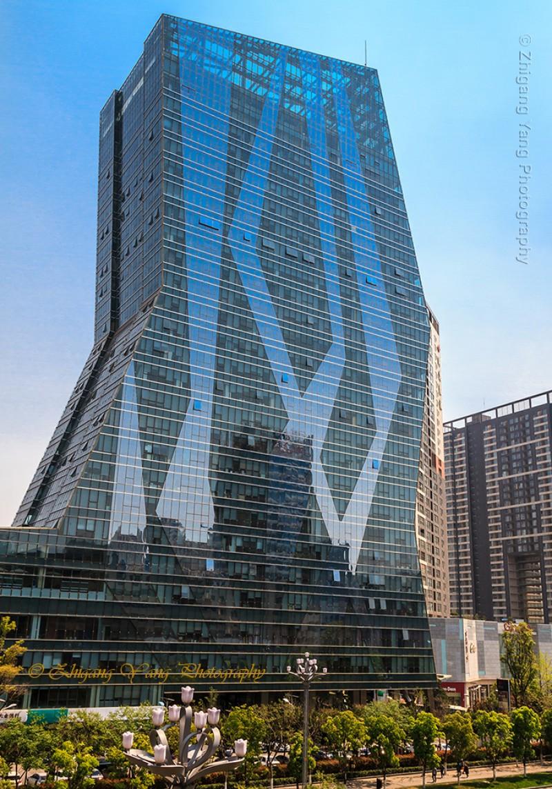 Modern Building Junfa Center in Kunming