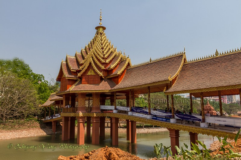 Bridge with Theravada-style in Manting Park