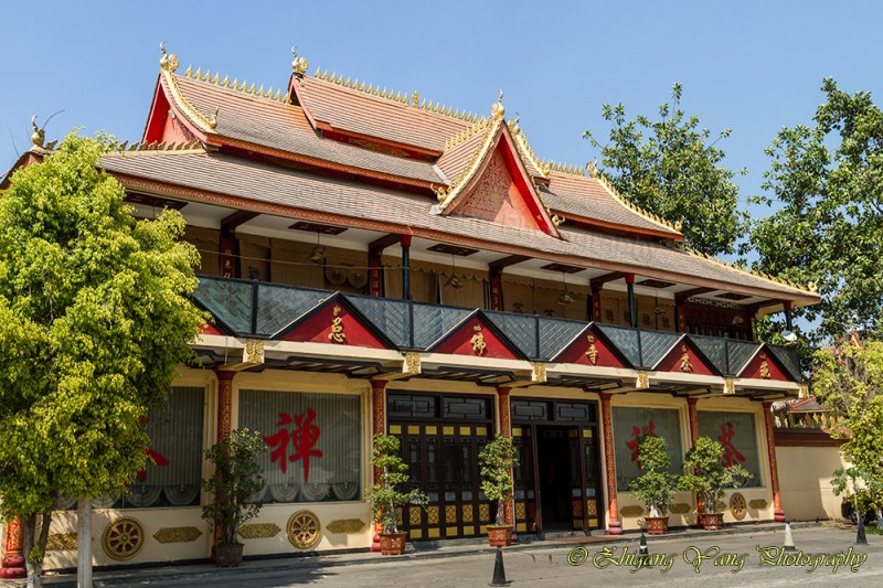 Buddhist teahouse with Theravada-style