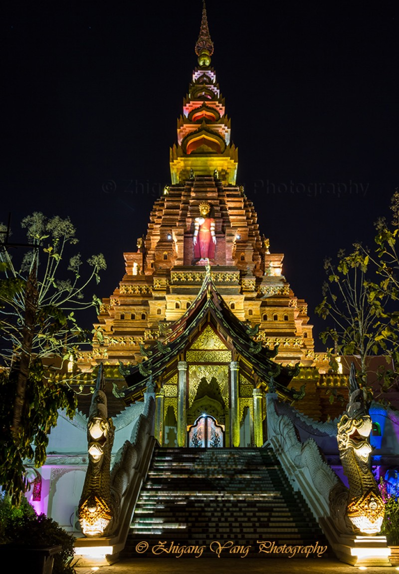 Xishuangbanna Golden Tower by night