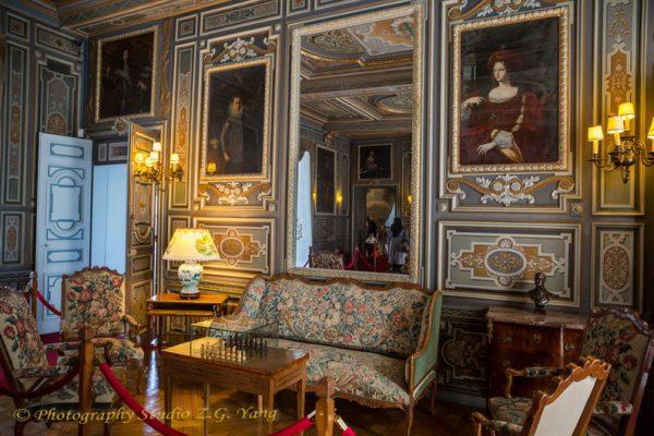 Interior of castle Cheverny