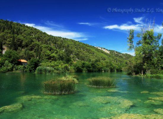 Lake in Lozovac Croatia
