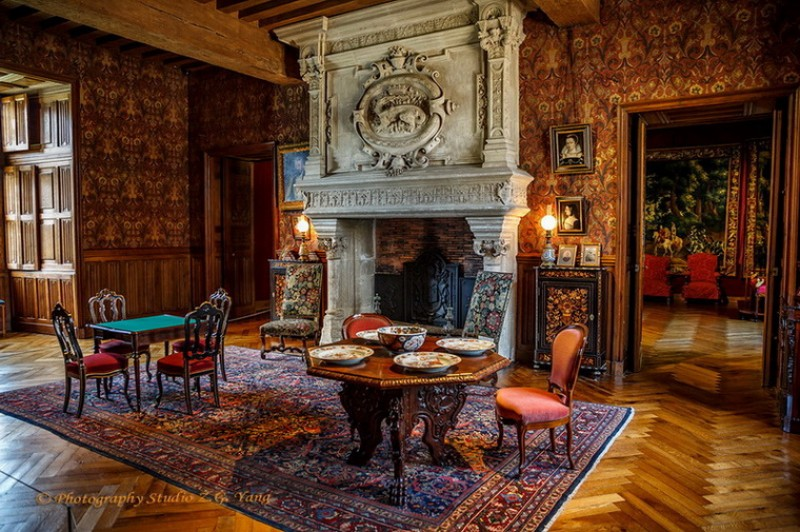 Livingroom Castle Azay le Rideau, France