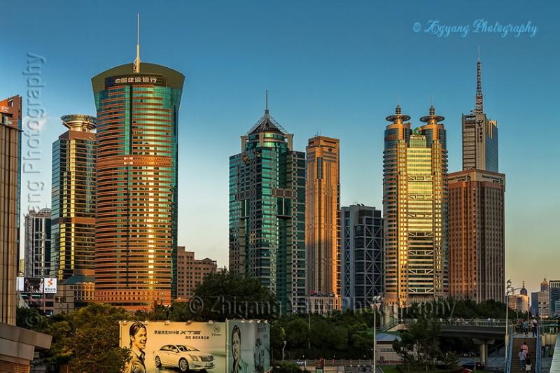 High Buildings in Lujiazui Financial Zone Shanghai