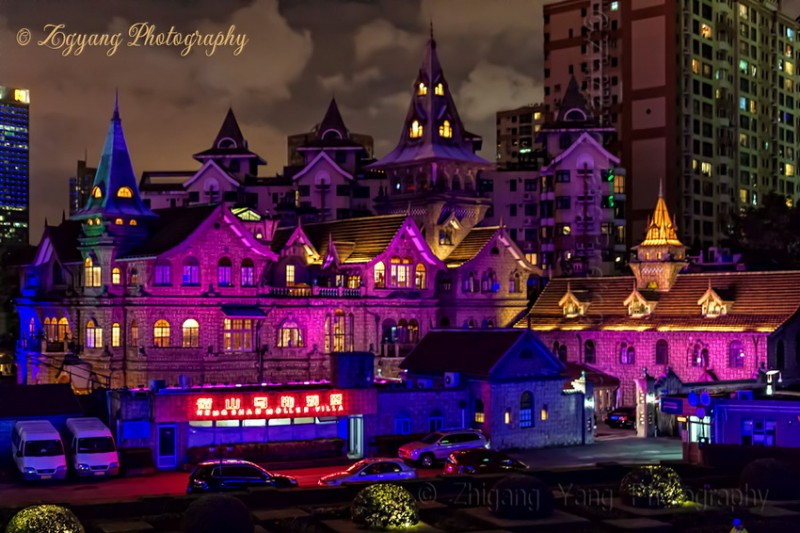 Moller Villa by Night in Shanghai