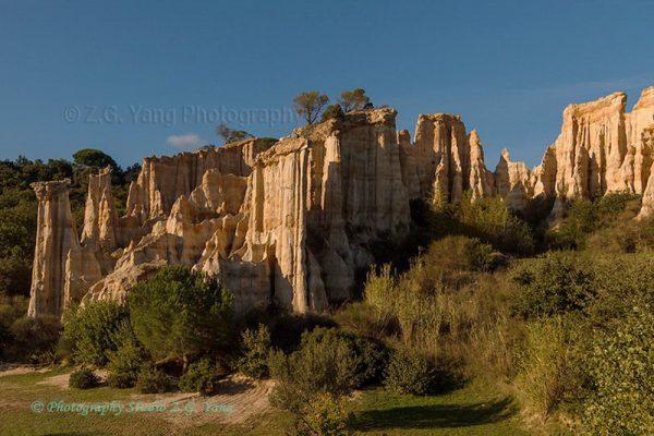 Rock formation at Orgues Ille-sur-Têt