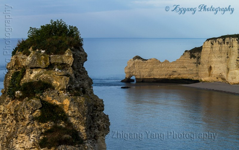 Rock formation on Etretat seashore