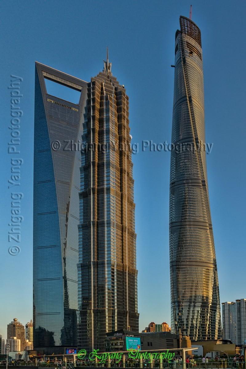 Skyscrapers in Lujiazui Financial Zone Shanghai