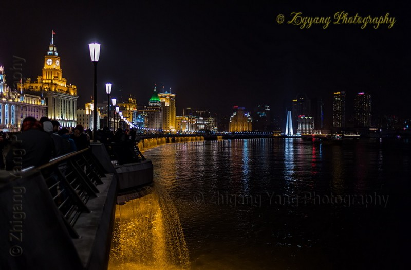The Bund and Huangpu River by night