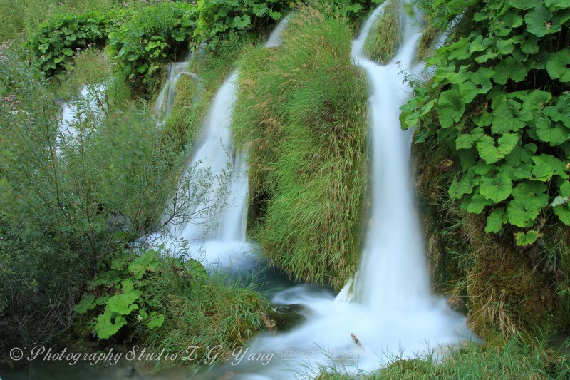 Waterfall in National Park Plitvice, Croatia