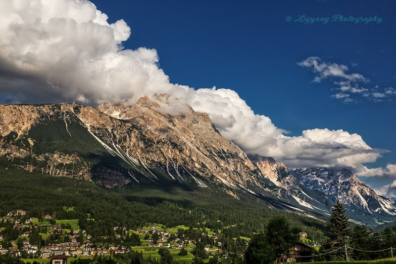 mountain peak near Cortina D'Ampezzo, Dolomite